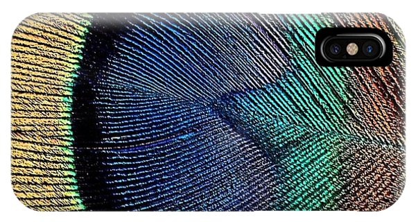 Abstract Peacock Feather Phone Case by Florene Welebny