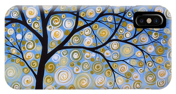 Abstract Tree Nature Original Painting Starry Starry By Amy Giacomelli IPhone Case