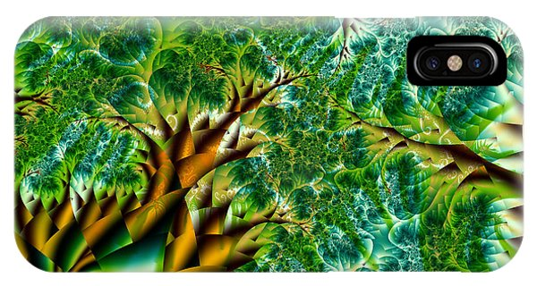 Abstract Trees IPhone Case