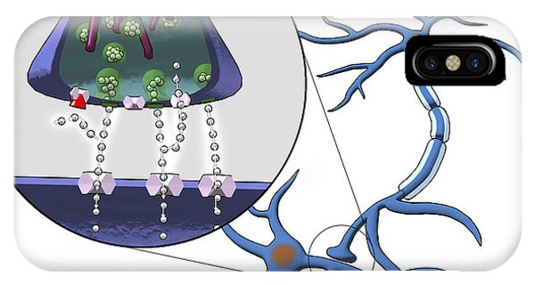 Action Of Serotonin Reuptake Inhibitors Phone Case by Equinox Graphics