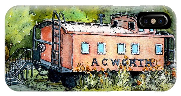 Acworth Caboose IPhone Case
