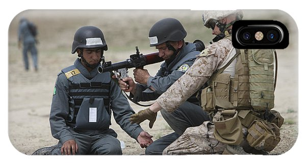 Afghan Police Students Assemble A Rpg-7 IPhone Case