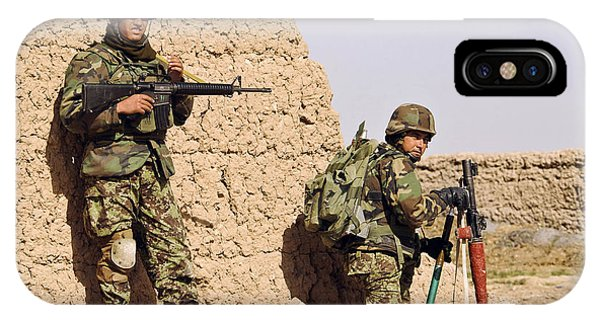 Afghan Soldiers Conduct A Dismounted IPhone Case