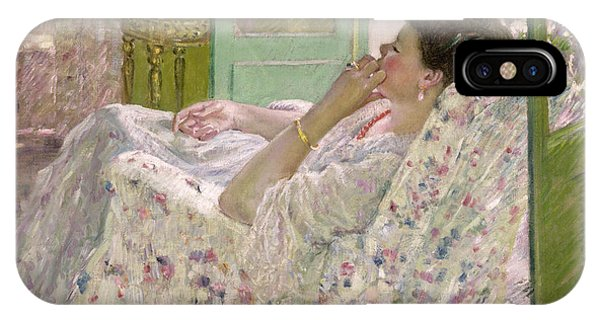 Relaxation iPhone Case - Afternoon - Yellow Room by Frederick Carl Frieseke