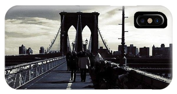 City iPhone Case - Afternoon On The Brooklyn Bridge by Luke Kingma