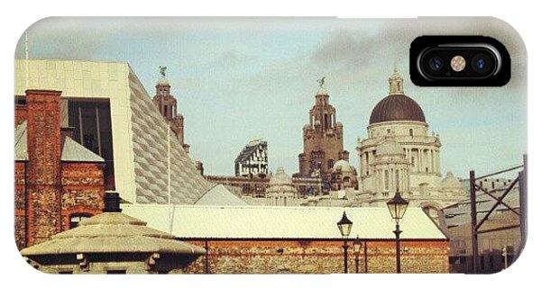 Artwork iPhone Case - #albertdock #liverpool #city #uk by Abdelrahman Alawwad