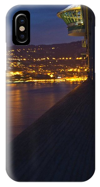 Alien Spacecraft Over Villefranche IPhone Case