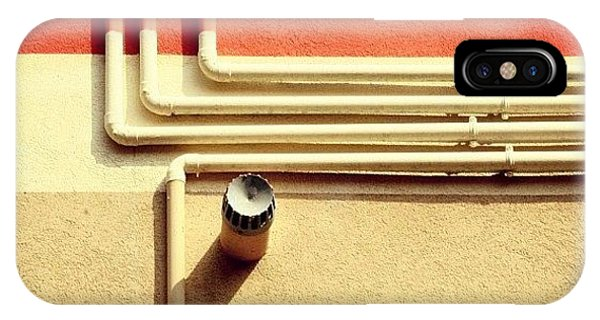 Orange iPhone Case - All That Jazz #geometry #color #pipes by A Rey