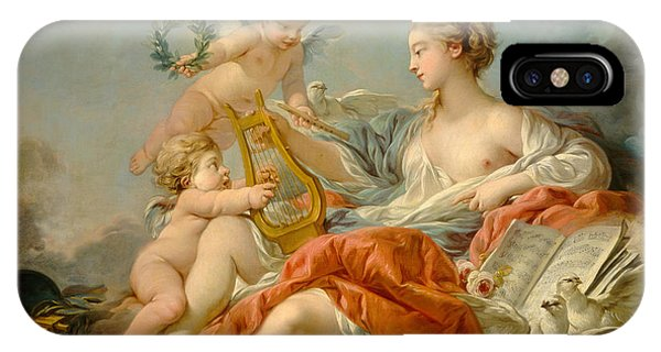 Cupid iPhone Case - Allegory Of Music by Francois Bouche