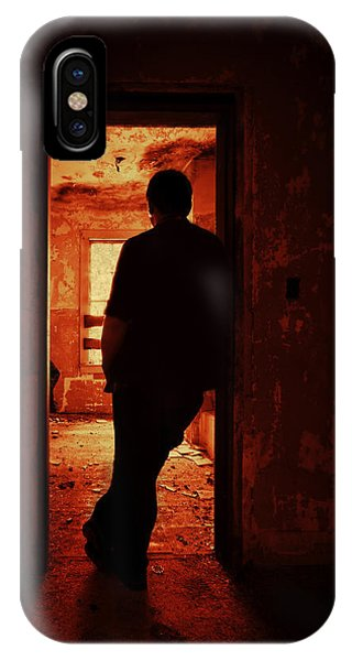 Male iPhone Case - Alone In The Endzone by Evelina Kremsdorf
