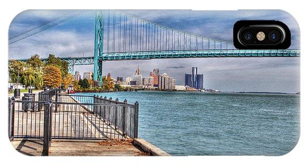 Ambassador Bridge Detroit Mi IPhone Case