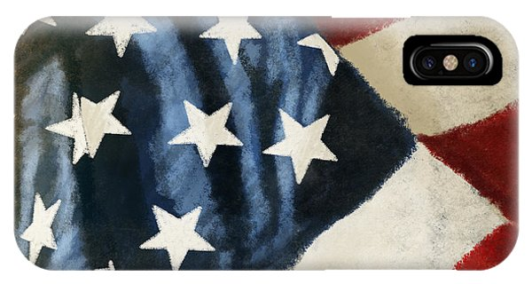 Damage iPhone Case - America Flag by Setsiri Silapasuwanchai