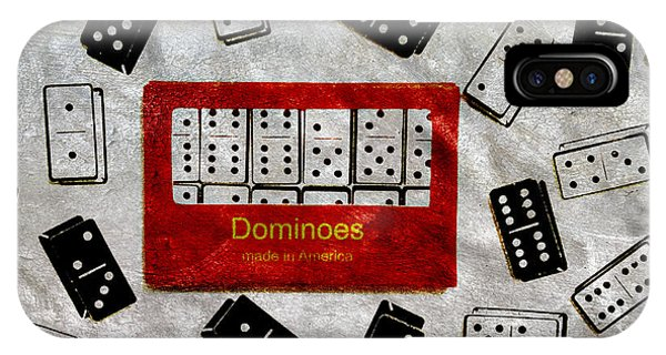 Bone iPhone Case - American Passtime Dominoes by Angelina Tamez