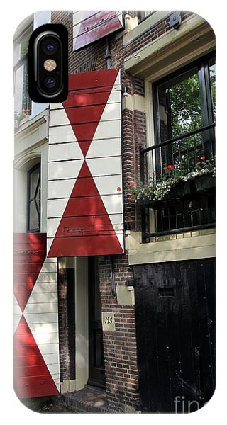 Amsterdam House Facade Phone Case by Sophie Vigneault