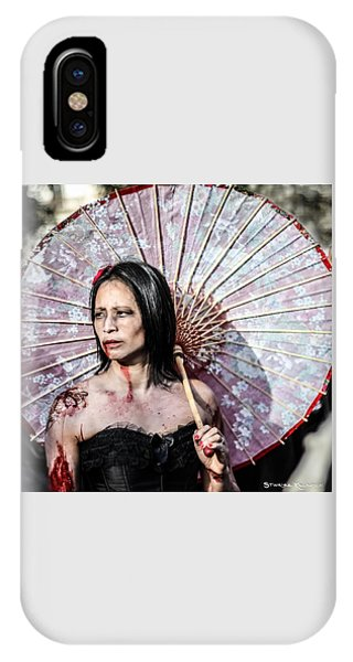 IPhone Case featuring the photograph An Asian Zombie by Stwayne Keubrick