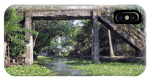An Old Stone Bridge Over A Canal In Alleppey IPhone Case
