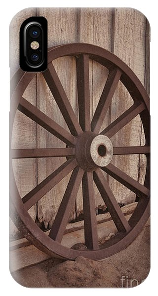 An Old Wagon Wheel IPhone Case