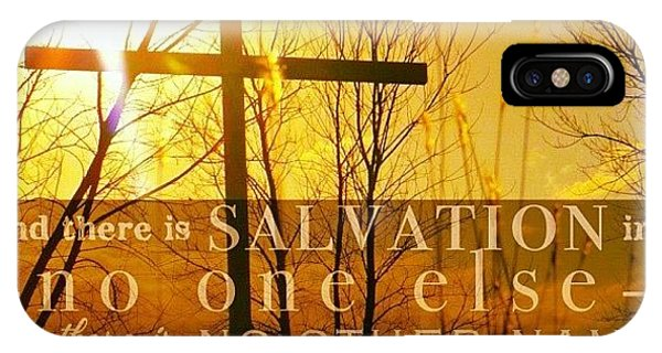 Inspirational iPhone Case - and There Is Salvation In No One by Traci Beeson