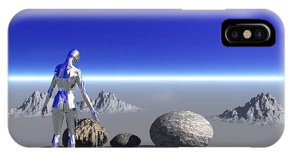 Android On The Blue Planet IPhone Case