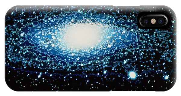 Andromeda Galaxy With Brightness Contour Lines Phone Case by Laguna Design