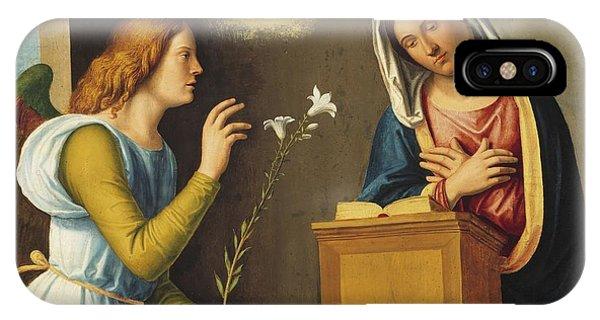 New Testament iPhone Case - Annunciation To The Virgin by Giovanni Battista Cima da Conegliano