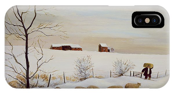 Barn Snow iPhone Case - Another Hard Winter by Margaret Loxton