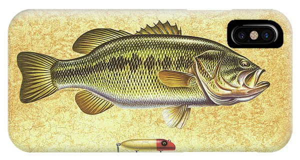 Fishing iPhone Case - Antique Lure And Bass by JQ Licensing