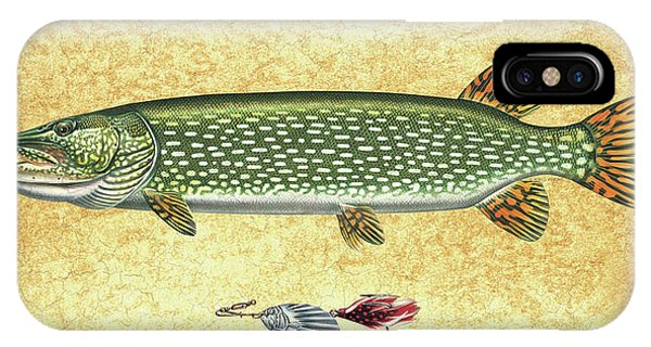 Lure iPhone Case - Antique Lure And Pike by JQ Licensing