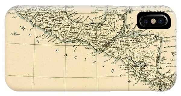 Pacific Ocean iPhone Case - Antique Map Of Southern Mexico by Guillaume Raynal