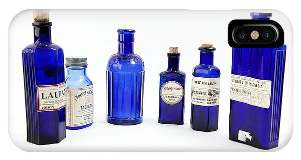 Antique Pharmacy Bottles Phone Case by Gregory Davies, Medinet Photographics