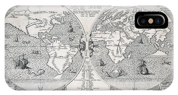 Antique World Map IPhone Case