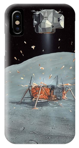Apollo 17 Ascent Stage, Artwork Phone Case by Richard Bizley