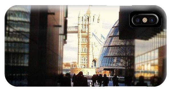 London Bridge iPhone Case - Approaching Tower Bridge by Matt Rhodes