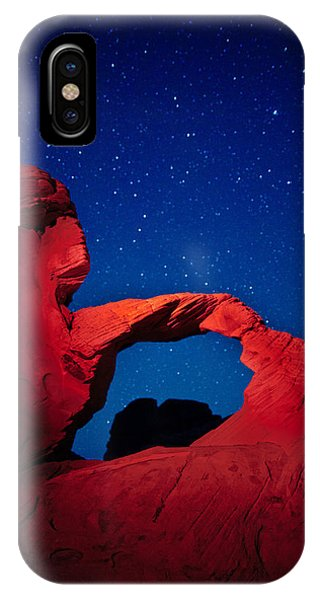 Valley Of Fire iPhone Case - Arch In Red And Blue by Rick Berk