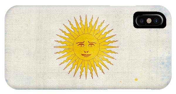 Damage iPhone Case - Argentina Flag by Setsiri Silapasuwanchai