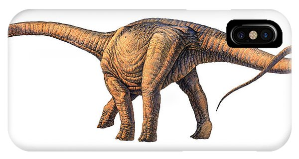 Argentinosaurus Dinosaur Phone Case by Joe Tucciarone