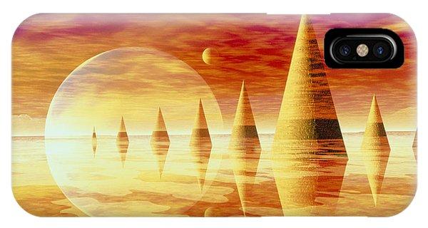 Artwork Of An Alien Landscape Phone Case by Mehau Kulyk
