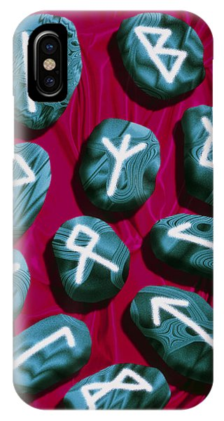 Artwork Of Rune Stones Used For Fortune Telling Phone Case by Victor Habbick Visions