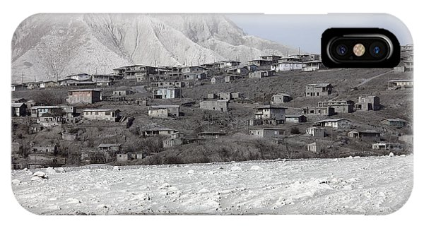 Pyroclastic Flow iPhone Case - Ash-covered Houses In Abandoned City by Richard Roscoe