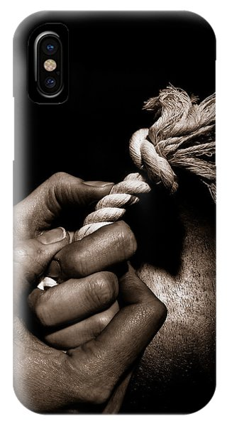 At The End Of My Rope IPhone Case