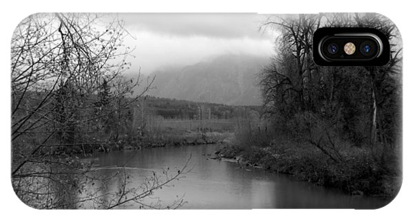 At The River Turn Bw IPhone Case