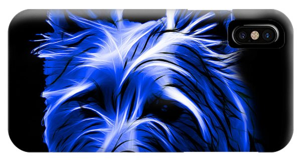 Australian Terrier Pop Art - Blue IPhone Case