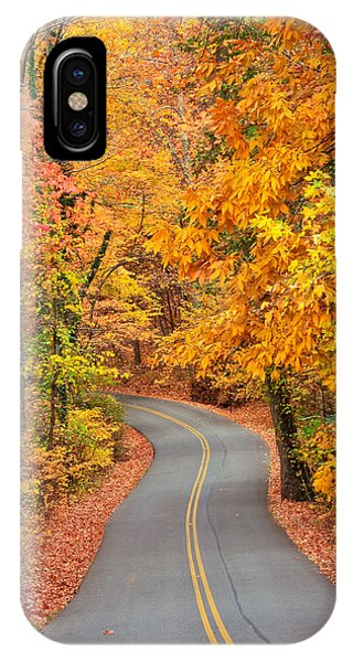 Autumn Drive Signal Mountain IPhone Case