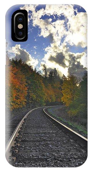 Autumn Tracks IPhone Case