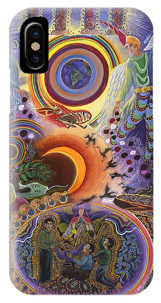 IPhone Case featuring the painting Ayahuasca Raura  by Pablo Amaringo