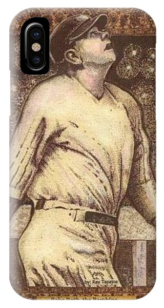 Babe Ruth The Bambino  IPhone Case