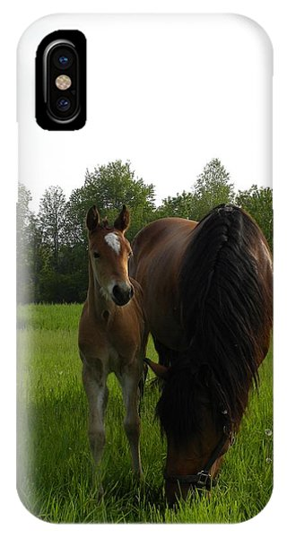 Babe With Mom IPhone Case