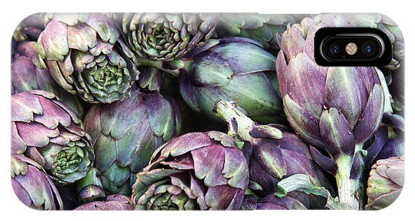 Background Of Artichokes IPhone Case
