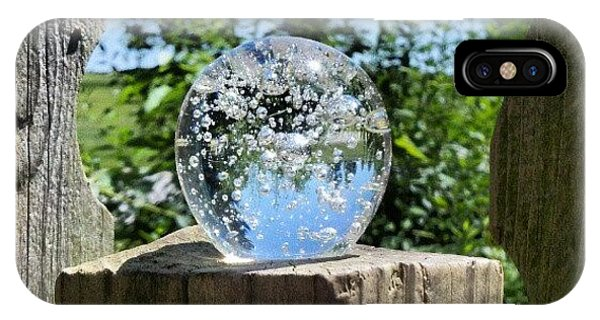 Fantasy iPhone Case - Backyard Magic #crystalball #magic by Melissa Wyatt