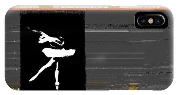 Dancing iPhone Case - Ballerina  by Naxart Studio